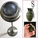 ダルトン スタンドアッシュトレイ Ball point(シルバー)&グレネードターボライター (カーキ) 灰皿 スタンド 屋外 室内 フタ付 ダルトン おしゃれ ターボライター おもしろライター
