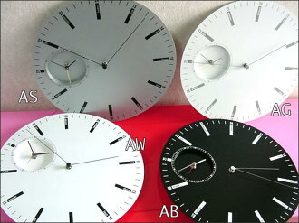 To display the time in two interior wall clock ダブルフェイスク lock