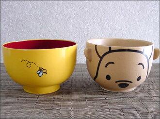 Disney rice bowl set-soup-bowl set Winnie the Pooh tea bowl and bowl set