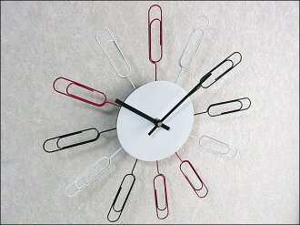 Wall clock-| clock | funny! gadgets | Homewares | design work locking clip «new life | school holidays | graduation | move | favors | presents | bingo | giveaway»