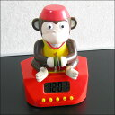 Interesting miscellaneous goods | Unique gift | Alarm clock | Monkey cymbals alarm clock [easy ギフ _ packing]