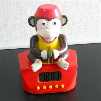 Funny. gadgets-unique gifts-alarm clock-モンキーシンバルアラームク rock