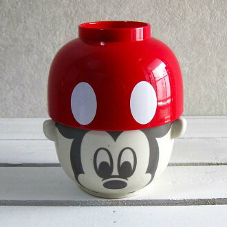 Disney rice bowl set-rice bowl-Cup-Bowl-soup-bowl set _ Mickey Mouse (red)