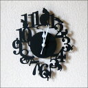 Wall hangings clock | of an antique cat A wall clock cat (black) [easy ギフ _ packing]