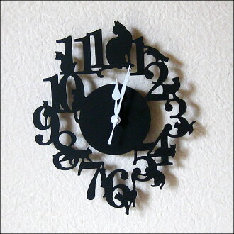 Wall hangings clock | of an antique cat Wall clock cat (black)
