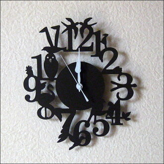 Wall hangings clock | of an antique bird Wall clock bird (brown)