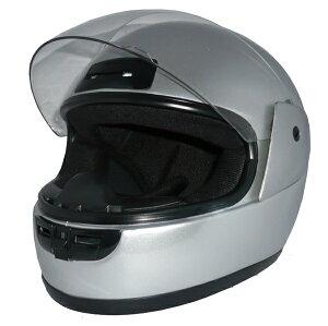 ヘルメットフルフェイスヘルメット シルバー カット・ハードコートシールド ベンチレータ