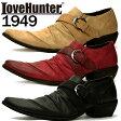[送料無料][LOVE HUNTER ラブハンター]お兄系バターナイフドレープベルトシューズ1949メンズ 靴 お兄系 シューズ ポインテッドトゥ パーティー ドレープ【YOUNG zone】【RCP】02P29Jul16