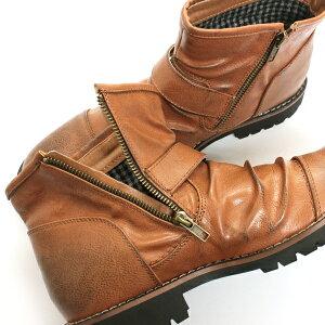 [ポイント2倍&送料無料]【Dedesデデス】エンジニアドレープショートブーツ5111【6000円2足セット対象】メンズ靴ベルトサイドジップboots【楽天ランキング1位!】【YOUNGzone】【RCP】02P20Nov15