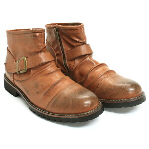 [送料無料]【Dedesデデス】エンジニアドレープショートブーツ5111【6000円2足セット対象】メンズ靴ベルトサイドジップ雪冬boots福袋2016ブーツ【楽天ランキング1位!】【YOUNGzone】【RCP】02P11Mar16