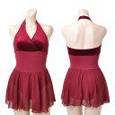 レオタード 赤 スカート付き AL0081ca13r