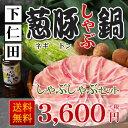 【下仁田ねぎと下仁田ポークの豚しゃぶしゃぶ鍋セット】葱豚しゃぶ鍋セット:B(しゃぶ