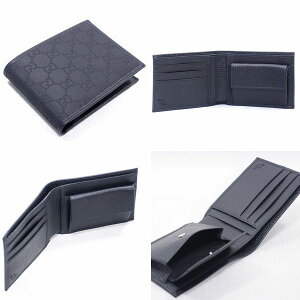 GUCCIグッチ財布メンズ二つ折り財布小銭入れ付GUCCI143384-G1X9N-1001