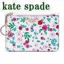 ケイトスペード KateSpade キーケース キーリング コインケース 花柄 ピンク レディース WLRU4885-143 ブランド 人気