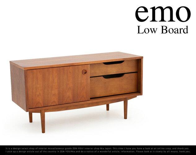emo Low Board /エモ ローボード ローボード テレビ台 ウォールナット リビングボード AV機器収納 AVボード TVボード TVラック 幅105cm EMK-2599BR