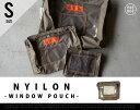 【Sサイズ】NYILON POUCH WITH WINDOW / ナイロンポーチ ウィンドウ PUEBCO プエブコ H15xW18xD4cm ポーチ バッグインバッグ 旅行