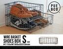 【S】WIRE BASKET SHOES BOX / Sサイズ ワイヤー バスケット シューズボックス PUEBCO / プエブコ ケース ボックス 収納 靴 ...