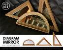 PUEBCO / プエブコ DIAGRAM MIRROR / ダイアグラム ミラー ミラー 鏡 かがみ 【あす楽対応_東海】