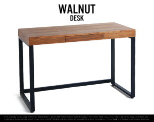 WalnutDesk/ウォールナットデスクウォールナットミッドセンチュリーPCデスクパソコンデスク書斎机emoanthemエモアンセムwood木ブラウン引き出し付き