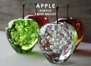 Apple peperweight/ アップル ペーパーウェイトリンゴ オブジェ林檎 りんご アクリル DETAIL