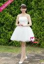 【サンプル処分9800円】ウエディングドレス 即納ドレス 花嫁ドレス ミニドレス パーティードレス 二次会ドレス