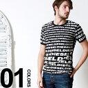 ディーゼル DIESEL 綿100% ロゴ 総柄 クルーネック 半袖 Tシャツ ブランド メンズ 男性 カジュアル トップス ティーシャツ コットン100% DSCG46JALL 楽天カード分割 【zenonline】