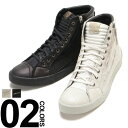 DIESEL (ディーゼル) レザー ブレイブマン ロゴプリント サイドジップ ハイカットスニーカー ブランド メンズ 靴 シューズ ハイカット 白スニーカー DSY01169P0878