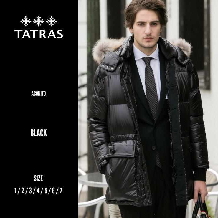 タトラス TATRAS リアルファー ナイロン フード ダウンジャケット ブルゾン ACONITO アコナイト TRMTK18A449 メンズ ブランド アウター ブルゾン ジャケット ダウン TRMTK18A449