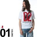 ショッピングディースクエアード ディースクエアード DSQUARED2 フロントプリント クルーネック 半袖 Tシャツブランド メンズ 男性 カジュアル トップス ティーシャツ プリントTシャツ D2GD0485S22999