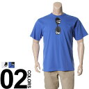 大きいサイズ メンズ B&T CLUB (ビーアンドティークラブ) 抗菌防臭 綿100% サングラスプリント 半袖 Tシャツ BIG SIZE カジュアル トップス ティーシャツ イオンクラスター 静電防止
