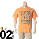 大きいサイズ メンズ B&T CLUB (ビーアンドティークラブ) 抗菌防臭 綿100% サーフプリント クルーネック 半袖 Tシャツ BIG SIZE カジュアル トップス ティーシャツ イオンクラスター 静電防止