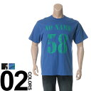 大きいサイズ メンズ B&T CLUB (ビーアンドティークラブ) 抗菌防臭 綿100% ナンバリングプリント クルーネック 半袖 Tシャツ BIG SIZE カジュアル トップス ティーシャツ イオンクラスター 静電防止