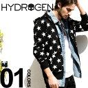 ショッピングハイドロゲン ハイドロゲン HYDROGEN パーカー スウェット スタープリント 星柄 フルジップ ブランド メンズ HY220109