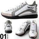 ショッピングディースクエアード ディースクエアード DSQUARED2 スニーカー レザー サイドライン スニーカー ブランド メンズ 靴 シューズ D2SNM04041306