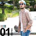 デンハム DENHAM シャツ 長袖 コットン チェック メンズ トップス DEN0540001 ブランド