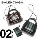 ショッピングバレンシアガ バレンシアガ BALENCIAGA トートバッグ ショルダー 2WAY ウール チェック柄 ミニ ネイビー カバ S レディース ブランド BCL3903469UY2N