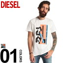 ディーゼル DIESEL Tシャツ 半袖 プリント クルーネッ