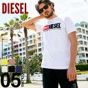 ディーゼル DIESEL Tシャツ 半袖 ロゴ 刺繍 クルーネック ブランド メンズ トップス カットソー レディース ペアルック 2019SS DSSH0ICATJ