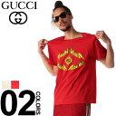 グッチ GUCCI Tシャツ 半袖 GG メタル ロゴ プリント ブランド メンズ トップス クルーネック GC493117XJAKJ SALE_1_a