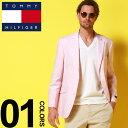 トミーヒルフィガー ジャケット TOMMY HILFIGER 麻ジャケット ストレッチ リネン シングル 2つ釦 2B ブランド メンズ テーラード TMTREVORAVF0004