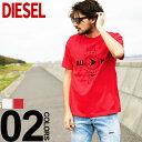 ディーゼル DIESEL Tシャツ 半袖 プリント クルーネック T-JUST-Y2 ブランド メンズ トップス コットン プリントT DSSSPP091A