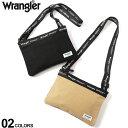 ショッピングサコッシュ 大きいサイズ メンズ wrangler (ラングラー) キャンバス ロゴストラップ サコッシュ カジュアル バッグ 鞄 小物 シンプル コンパクト コットン BTR626