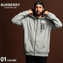 バーバリー パーカー メンズ BURBERRY スウェット トーマス バーバリー ロゴ フルジップ ブランド トップス フード BB8017261 SALE_1_e
