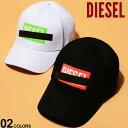 ディーゼル メンズ キャップ DIESEL コットン ロゴ プリント スナップバック ブランド 帽子 ベースボールキャップ DSSJ6PJAPG