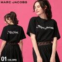 マーク ジェイコブス レディース Tシャツ 半袖 MARC JACOBS ロゴ ビーズ 刺繍 プリント クルーネック NEW YORK 黒 ブランド トップス プリントT ロゴT バックプリント MJLM4007900 SALE_8_a