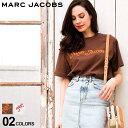 マーク ジェイコブス レディース Tシャツ 半袖 MARC JACOBS ロゴ ビーズ 刺繍 プリント クルーネック NEW YORK 白 茶色 ブランド トップス プリントT ロゴT バックプリント MJLC600039 SALE_8_a