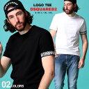 ディースクエアード メンズ Tシャツ 半袖 DSQUARED2 アーム ロゴ クルーネック ストレッチ ブランド トップス D2D9X202970UD
