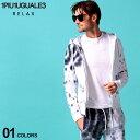 1PIU1UGUALE3 RELAX ウノ ピュ ウノ ウグァーレ トレ リラックス メンズ パーカー スウェット タイダイ 染め フルジップ ブランド トップス スエット 1PRUSO20012
