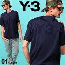 Y-3 メンズ Tシャツ 半袖 ワイスリー ロゴ バックプリント クルーネック BACK LOGO SS TEE ブランド トップス ロゴT プリントT Yohji Yamamoto ヨウジヤマモト Y3FN3350 SALE_1_a