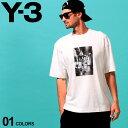 Y-3 メンズ Tシャツ 半袖 ワイスリー フォトプリント クルーネック GRAPHIC SS TEE 白 ホワイト ブランド トップス プリントT Yohji Yamamoto ヨウジヤマモト Y3FT1373